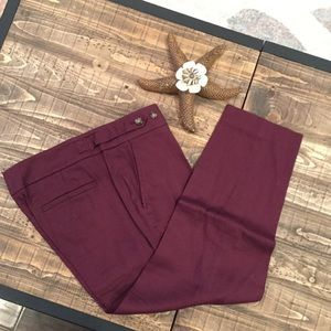 LOFT DEEP PURPLE KHAKI PANTS - SIZE 6P